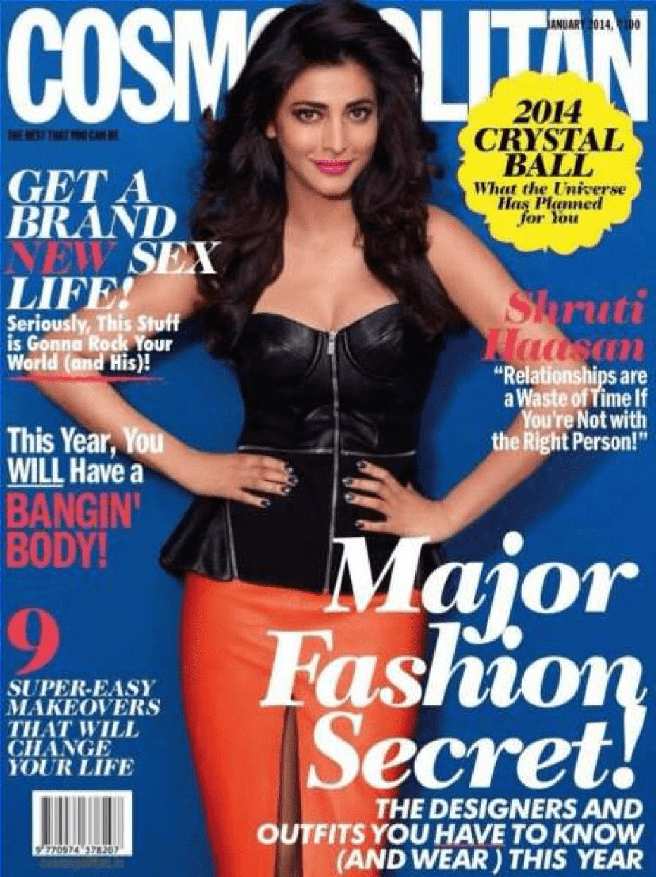 Cosmopolitan Cover With Shruti Hassan